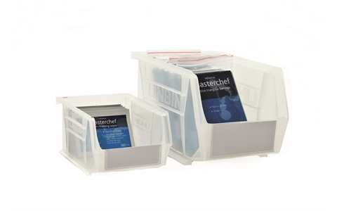 Size 6 Linbins - H180mm X W210mm X D280mm - Pack Of 10 - Clear Storage Bins With Antibacterial Additive