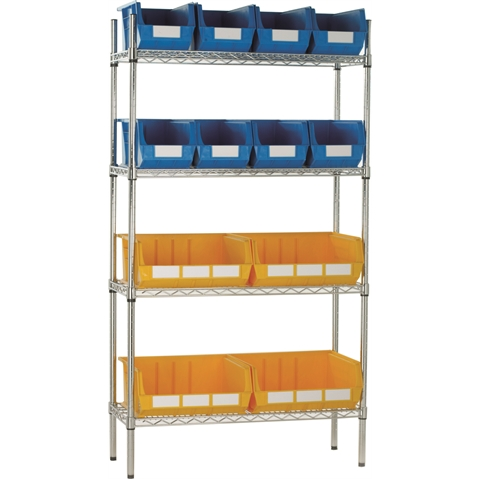 Chrome Wire Shelving & Linbins