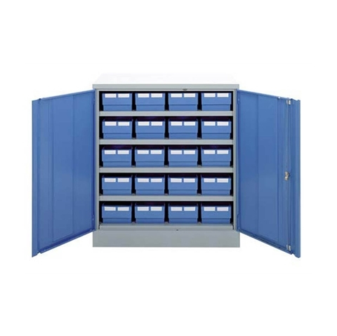 Half Height Metal Cabinet & 20 Lintrays