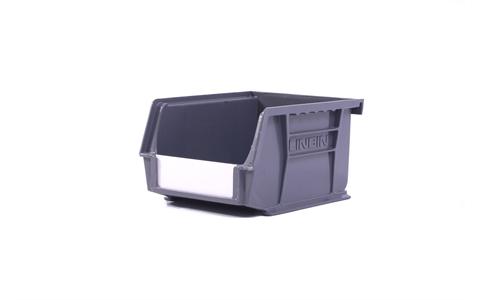 Size 2 Linbins - H75mm x W105mm x D135mm - Pack of 20 - Grey Storage Bins
