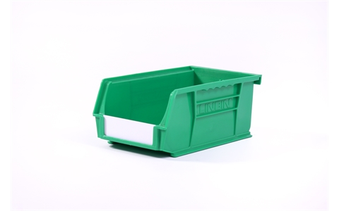 Size 3 Linbins - H75mm x W105mm x D190mm - Pack of 20 - Green Storage Bins