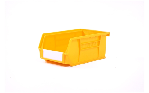 Size 3 Linbins - H75mm x W105mm x D190mm - Pack of 20 - Yellow Storage Bins