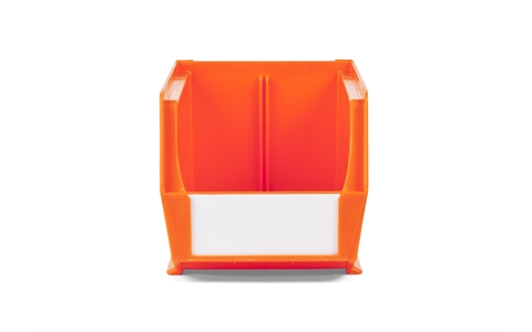 Size 5 Neon Linbins - H130mm x W140mm x D280mm - Pack of 10 - Orange Storage Bins