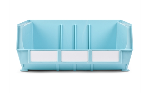 Size 8 Neon Linbins - H180mm x W420mm x D375mm - Pack of 5 - Cyan Storage Bins
