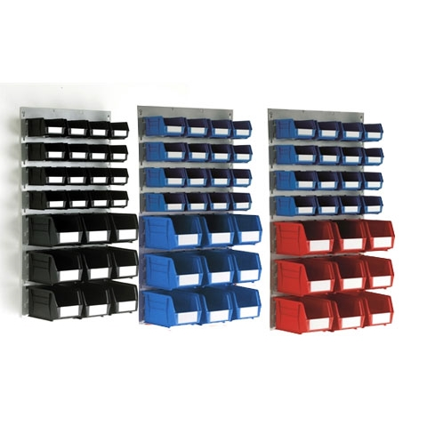 Medium Louvre Panel & 25 Linbins of sizes 2 & 4
