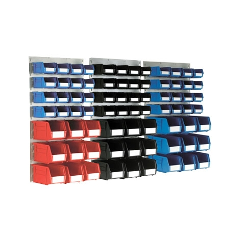 Medium Louvre Panel & 25 Linbins of sizes 3 & 5